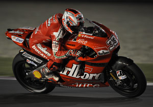 Unlike his competition, Marco Melandri had raced under the lights at Losail before in the 2008 Qatar Grand Prix.
