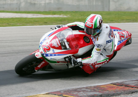 Larry Pegram earned three race victories in 2009 on the Ducati 1098R.