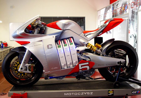 The MotoCzysz E1pc gets an updated electric motor controller system for 2010.