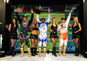 Chad Reed (left) has been on the podium all season but James Stewart (center) has been unstoppable.