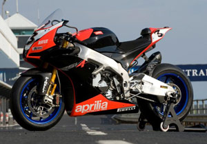 Aprilia returns to WSBK racing with the RSV4.