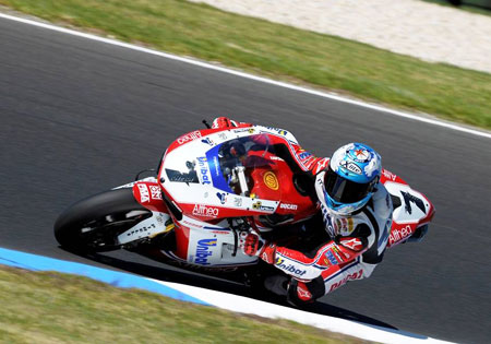 Carlos Checa Althea Ducati World Superbike Phillip Island