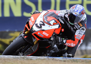 Max Biaggi and the RSV4 have impressed in Aprilia's return to WSBK racing.