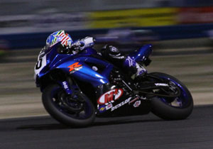 Jason DiSalvo briefly held the lead but finished third for Team M4 Suzuki.