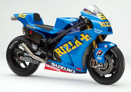 Loris Capirossi's new steed, the 2010 Suzuki GSV-R gets a new paintjob from Troy Lee Designs.