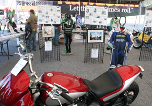 Members of the motorcycle industry donated over 300 items for the two auctions.