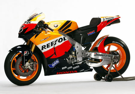 The last Showa holdover in 2009, Repsol Honda will join the rest of the MotoGP grid in using Ohlins suspension in 2010.