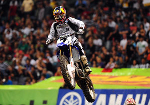 James Stewart spoiled Chad Reed's 27th birthday by ending his winning streak.