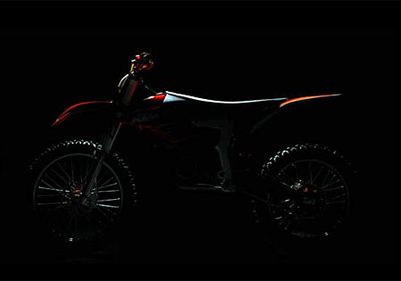 KTM's website features this teaser image of the Freeride prototype.
