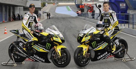 Colin Edwards (left)  finished 7th in the 2008 MotoGP standings. James Toseland (right) finished 11th.