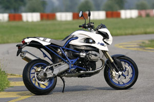 The HP2 Megamoto is part of BMW's High Performance line also featuring the HP2 Enduro and the HP2 Sport.