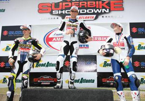Suzuki swept both AMA American Superbike podiums at Road Atlanta.