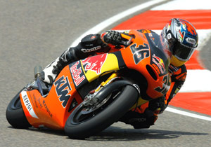 Mika Kallio's KTM 250GP motorcycle earned two wins in 2008.
