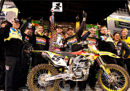 Ryan Dungey is the 2010 AMA and FIM World Supercross Champion.