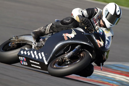 Harald Kitsch and the Erik Buell Racing 1190RR set the fastest lap across all classes at an event in Germany.