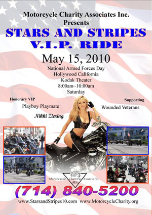Playboy Playmate Nikki Ziering will be the Honorary VIP for the charity ride.