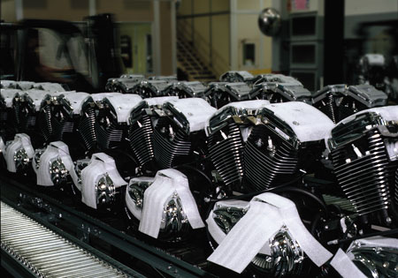 Harley-Davidson's powertrain operations employ 1,320 workers in Wisconsin.