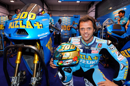 Loris Capirossi competed in his 300th GP race in April at the Losail Circuit in Qatar.