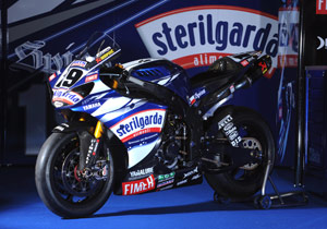 Ben Spies' R1 will be dressed in Sterilgarda livery in Italy.
