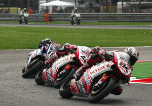 Michel Fabrizio (84) earned his first career WSBK win at Monza.