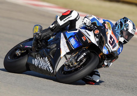 Leon Haslam will carry a 15-point lead over Max Biaggi into Utah.