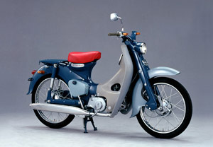 Honda's 1958 Super Cub C100 broke from convention by using a four-stroke engine.