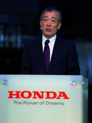 Honda CEO Takeo Fukui stresses the importance of the company's motorcycle division.