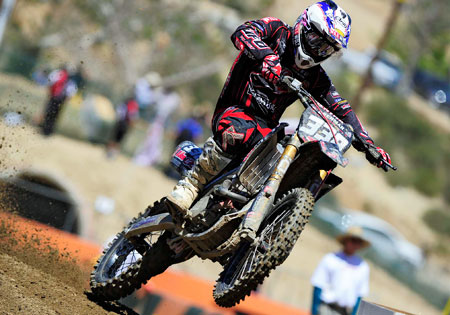 Richmond, Va., native Zach Osborne made the podium in the MX2 class.