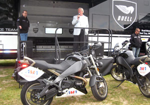The Buell-supplied pace bikes will debut at the Heartland Park Topeka round.