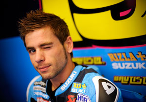Alvaro Bautista may be all winks and smiles but he's racing with a broken collarbone.