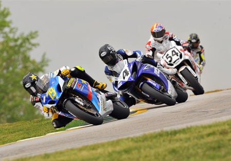 Josh Hayes (4) won a nail-biter in Race One at Road America.