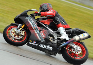 Ben Thompson wasn't able to transform the Aprilia RSV1000R into a winner.