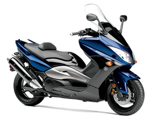 One of two new products for 2009, the TMax sounds like the V-Max but has more in common with Yamaha's sportsbikes.