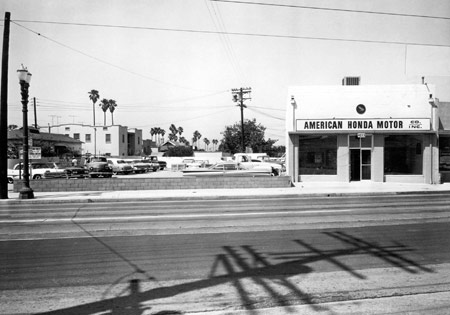 Honda's American operations began in this small storefront in L.A.