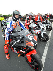 Dainese ambassadors Jorge Lorenzo and Angel Nieto rode an honorary lap of the Mountain Course.