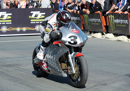 Michael Czysz will ride the TT Zero-winning MotoCzysz E1pc in the e-Power race at Laguna Seca.