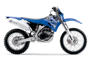 Yamaha's WR450F returns for 2009 with just a small change to the graphics.