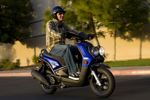 With fuel prices reaching new highs, Yamaha is highlighting the fuel efficiency of its 2009 scooters.