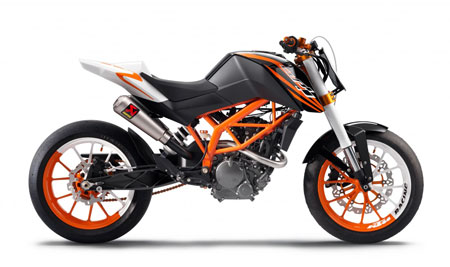 "The ""Race"" version of KTM's yet-to-be-named 125cc streetbike."