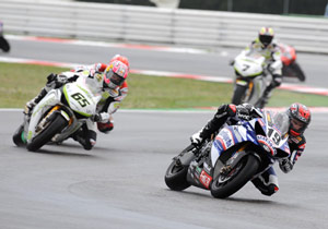 Ben Spies (right) and Jonathan Rea each earned victories at Misano.