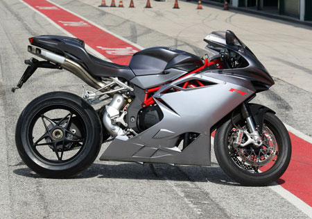 The 2010 MV Agusta F4. A middleweight version, rumored to be called the F3, has been on hold as Harley-Davidson sought a buyer for MV Agusta.