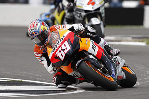 Nicky Hayden convinced Repsol Honda to let him run on the new pneumatic valve engine at Donington.