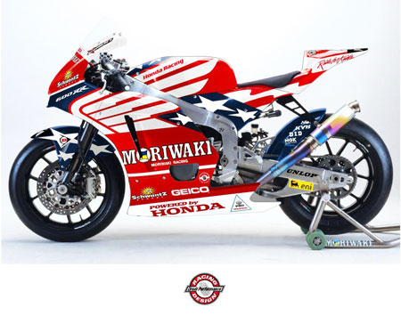 Roger Hayden will ride the #34 American Honda Moriwaki MD600 in the Indianapolis Moto2 race.