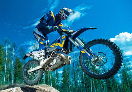 After 22 years of producing only four-stroke motorcycles, Husaberg has