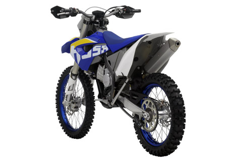 Husaberg gave the FX450 a 19-inch rear wheel, handguards and a modified six-speed transmission.