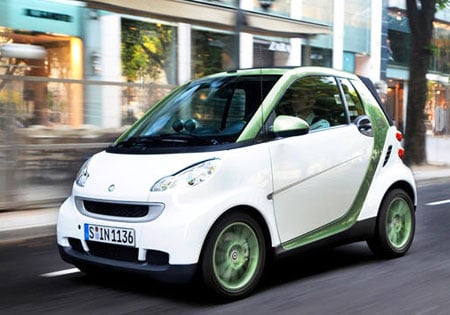 An electric scooter fits into Daimler's Smart brand alongside the electric drive FourTwo which will enter production in 2012.