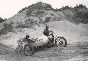 Dot Robinson was a two-time Jack Pine National Endurance sidecar-class champion. Photo copyright H-D