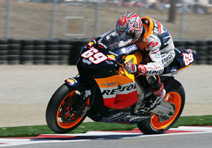 The 'Kentucky Kid' Nicky Hayden won the first two U.S. Grand Prix after Laguna Seca made its return to the MotoGP schedule in 2005.