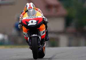 Days after suffering multiple injuries, Dani Pedrosa recorded the slowest time in the first free practice session.