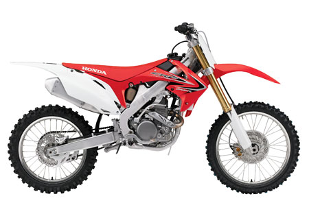 Like it's larger sibling the CRF450F, the CRF250F gets a new muffler that meets the 94 dB sound limit required by some racing organizations.
